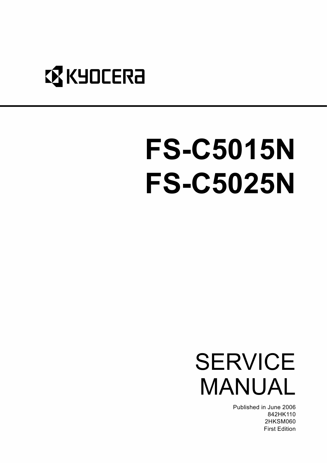 KYOCERA ColorLaserPrinter FS-C5015N C5025N Service Manual-1